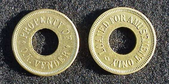 Tokens used in closed territories.